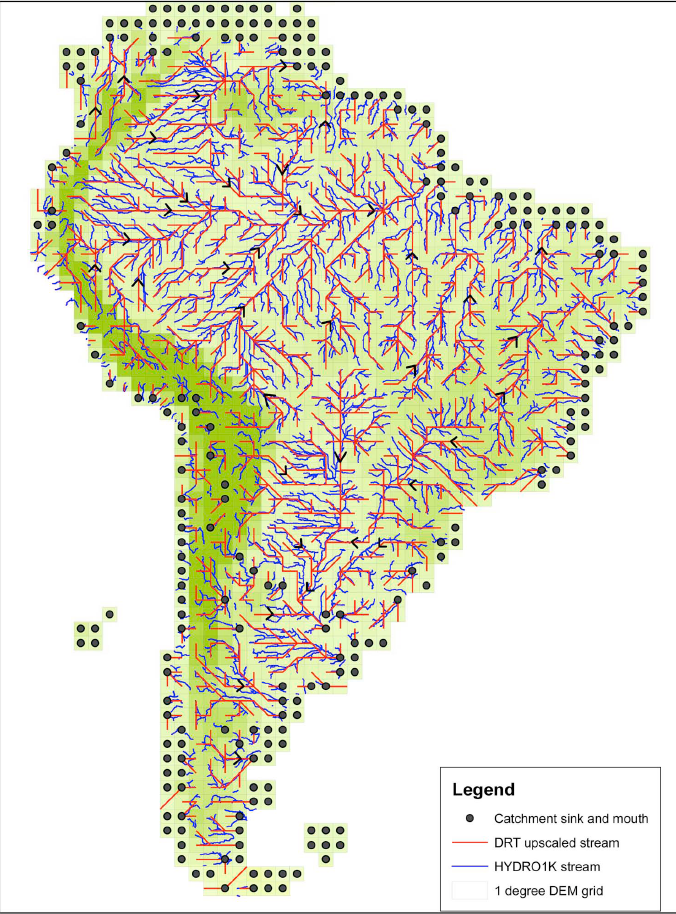 Dominant River tracing in South America
