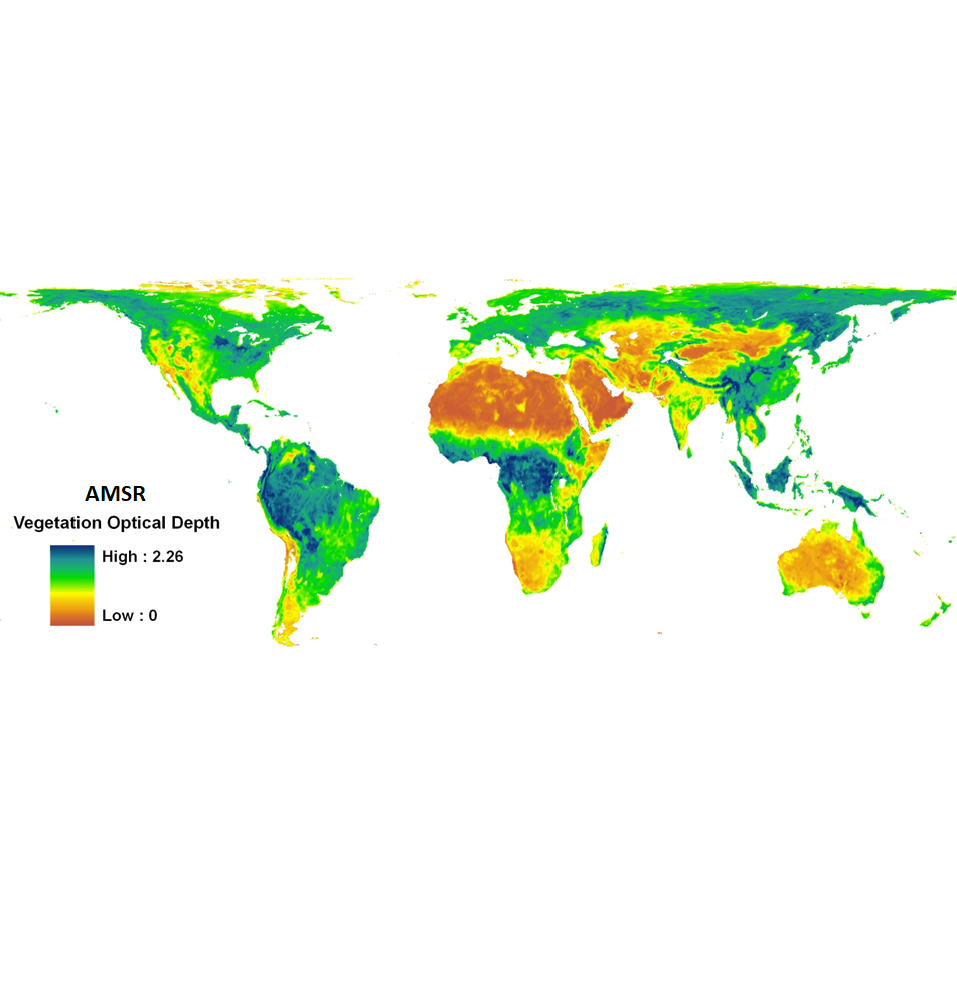AMSR vegetation map