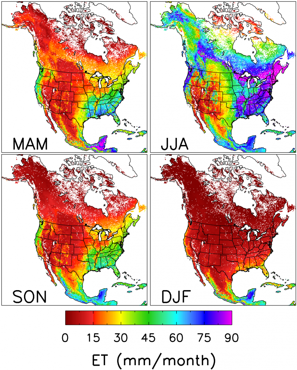 Seasonality of North American ET
